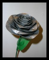 Duct Tape Rose Grey by DuckTapeBandit