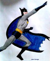 Batman Batarang Pose by Fires-storm