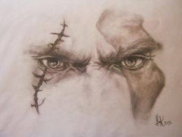The Gaze Of Kratos by GearsGirl6295