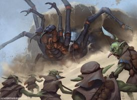 Giant Spiders! by AlexKonstad
