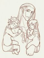 DAO: Zevran and the Twins by tahara