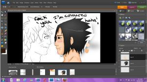 Sasunaru-Sasuke Coloured by Dark-Summers
