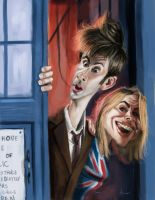 The Doctor and Rose Tyler - Dr. Who by DevonneAmos