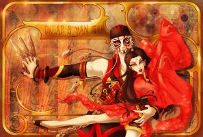 CdR - Knife Thrower's Dance - Diviar and Yan Mei by MaraAum