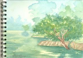 Watercolor Sketch Ibirapuera by art2work