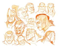 Skyrim Orc sketches by Drkav