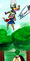 Link take off his pants on the sky by Christy58ying