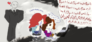 whatching peee~wdiepie get raped by slender by jess-the-red-head