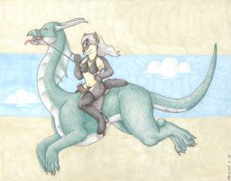 Dragon Rider by selunca