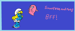 Smurfette and Pinky. by Smurfette123