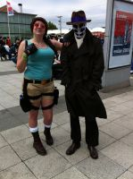 Rorshach and ... Lara Croft? by nitebytes