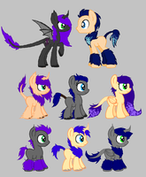 Umbra x OC foals for RougeTheBad by WolfiesAdopts