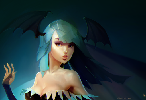 Morrigan portrait by Goshun