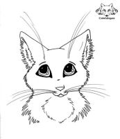 Free Lineart Cat by Cristaleyes
