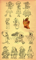 Character consepts and color key 3 by andretapol