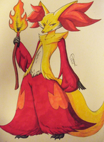 Delphox by Chiibe