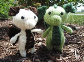 My two Baby Dragons! Sparkles and Leif by ashesonfire