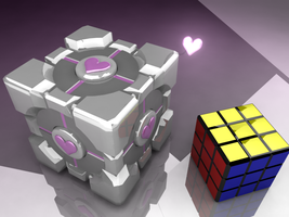 Weighted Companion Cube+Friend by Josiahsal