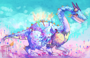 Cake Dragon by LadyKuki