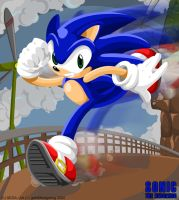 Sonic at Windy Valley by geN8hedgehog
