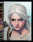 Ciri The Witcher 3: Wild Hunt drawing by Bajan-Art