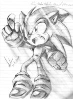 Sonic doodle: Move On! by andreahedgehog