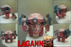 Lagann Papercraft Finished by rubenimus21
