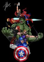 The Avengers by DHK88