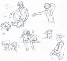 Lance and Pietro Sketches by Nemhaine42