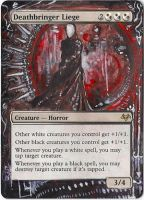 Magic Card Alteration: Deathbringer Liege by Ondal-the-Fool
