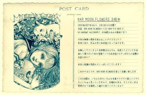 Bar moon flowers flyer 2015 by musubunakai