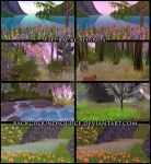Flower Meadow Premade Backgrounds by BackgroundSource