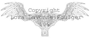 Stone Celtic Angel Wings by lavonne