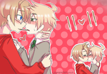 usuk :: pocky day by CaptainJellyroll