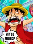 Luffy stick face by Master-Angel