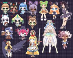 Adopts for Sale $ 10 - [ OPEN ] by Nanayuu