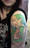 My Link tattoo finished, for now :} by Jade-Maggot