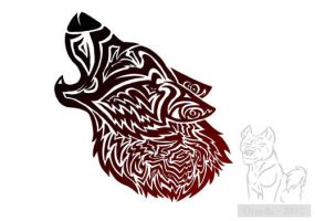 Coloured Tribal Wolves on #Tribal-Wolf-Art - deviantART