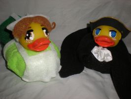Chibitalia and Holy Roman Empire Ducks by Oriana-X-Myst
