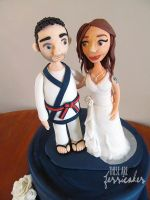 Wedding Cake Topper - Close up by thesearejessicakes