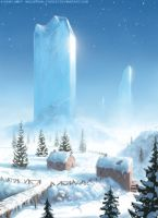 Ice Block Mountains by Industrial-Forest