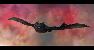 Toothless- catching a breeze by Ningeko16