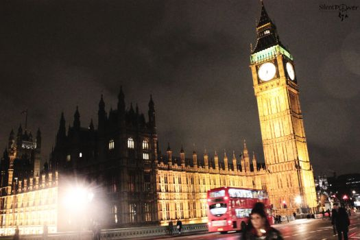 Big Ben and Westminster Abbey by CiindyCore
