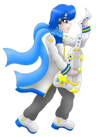 Vocaloids Kaito guitar transparent by MikariStar