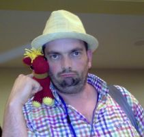 Peter New with Big Macintosh at Everfree NW 2013 by kaerfel