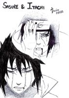 Sasuke and Itachi By Thaks by LaisxLeticia