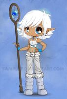 Snow Elf Chibi - Art Trade by YamPuff