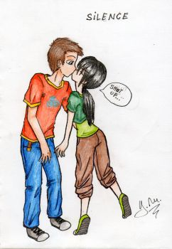 Aang-Toph kiss by 0just0music0