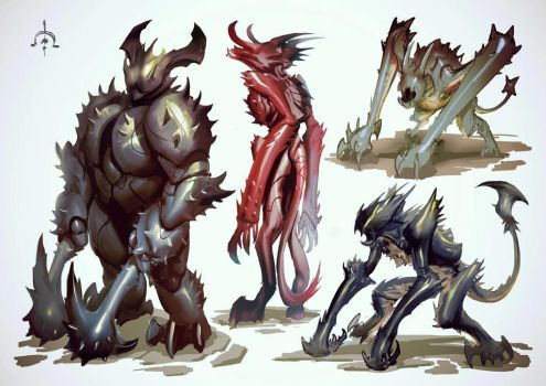 Substrata - demon sketches by Mikeypetrov