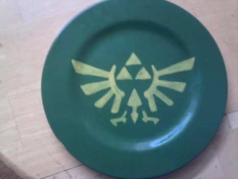 Geek Plate Number 3 - Triforce by Tukadian